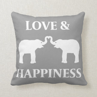Love & Happiness Elephant Cushion