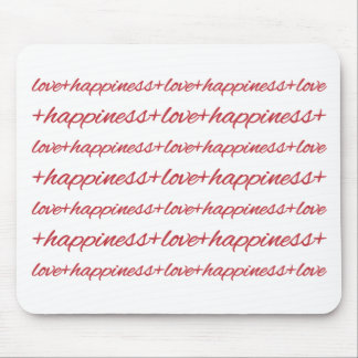 Love + Happiness Mouse Pad