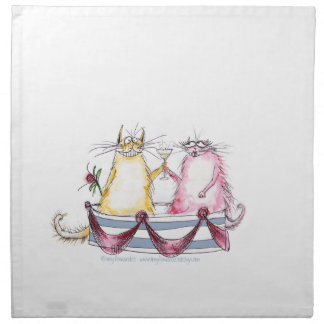 love happy cartoon cat, tony fernandes napkin