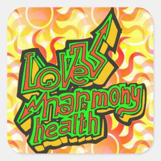 Love Harmony Health Square Sticker