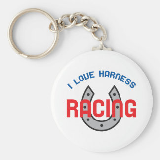 LOVE HARNESS RACING BASIC ROUND BUTTON KEY RING