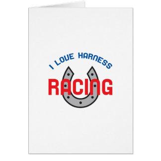LOVE HARNESS RACING GREETING CARD