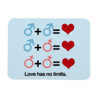 LOVE HAS NO LIMITS - .png Magnet