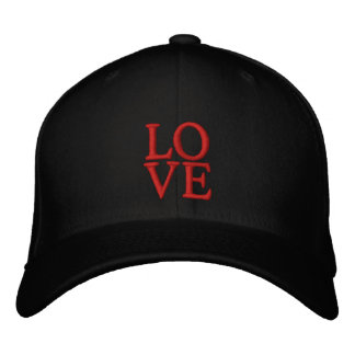 LOVE HAT EMBROIDERED BASEBALL CAPS