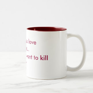 Love & Hate Two-Tone Mug