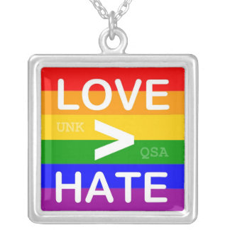 """""""Love > Hate"""" Necklace"""