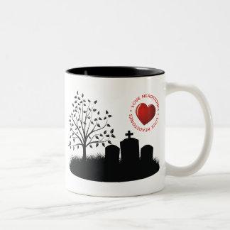 Love Headstones Two-Tone Coffee Mug