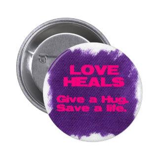 Love Heals Buttons