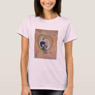 """""""love heals"""" Charity Heart Art T-shirt"""