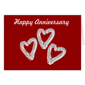 Love Heart Anniversary Card