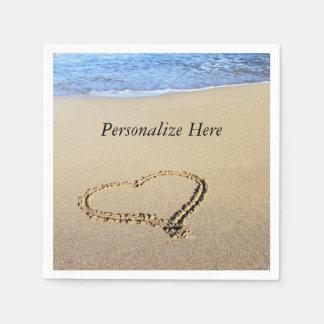 Love Heart Beach Disposable Napkin