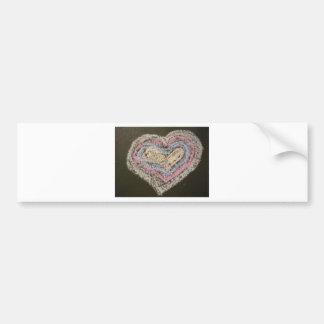 Love Heart Bumper Sticker