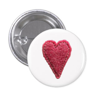 Love Heart Button Badge