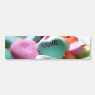 Love Heart Candy Bumper Sticker