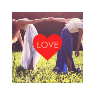 """Love"" heart canvas (adaptable) Canvas Print"