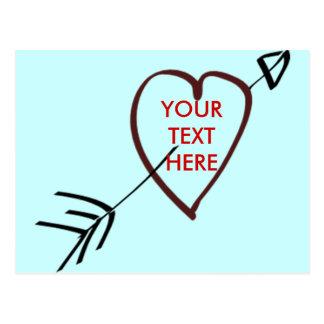 LOVE HEART CARD - Customised Postcard