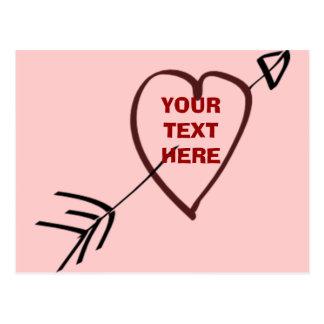 LOVE HEART CARD POSTCARD