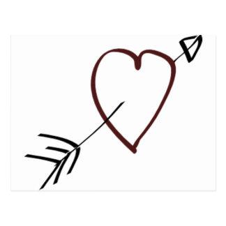 LOVE HEART CARD POSTCARDS