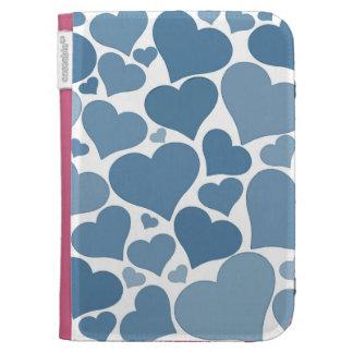 Love heart case - blue, unique, pretty kindle case