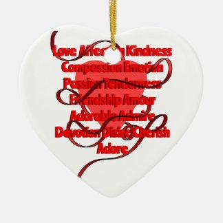 love heart christmas ornament
