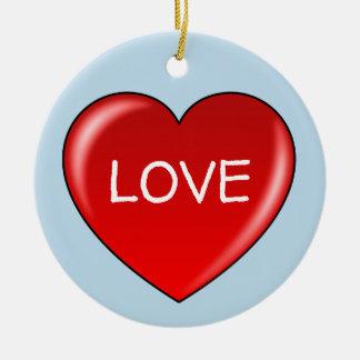 LOVE Heart Circle Ornament
