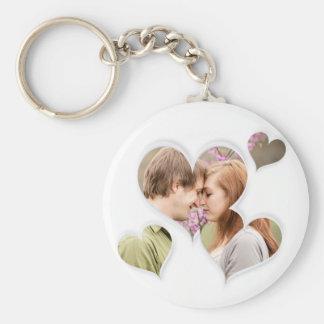 Love Heart Cute custom Photo gifts Basic Round Button Key Ring