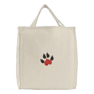 Love Heart Dog Paw Bag