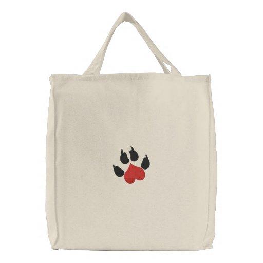 Love Heart Dog Paw Bag