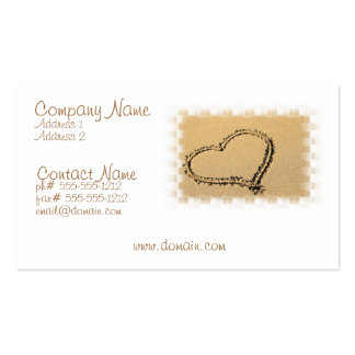 Love Heart Drawing Business Card