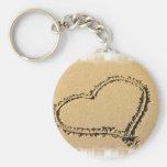 Love Heart Drawing Keychain