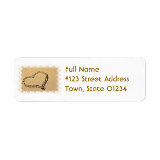 Love Heart Drawing Mailing Label Return Address Label