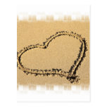Love Heart Drawing Postcard