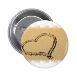 Love Heart Drawing Round Button