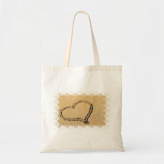 Love Heart Drawing Small Canvas Bag