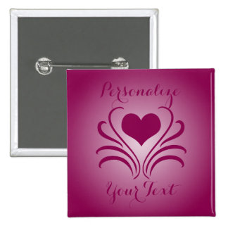 Love Heart Flair Curlicue Stencil Pick Any Color 15 Cm Square Badge