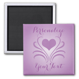Love Heart Flair Curlicue Stencil Pick Any Colour Square Magnet