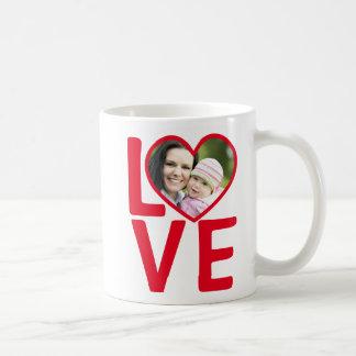 Love Heart Frame Custom Photo Coffee Mug