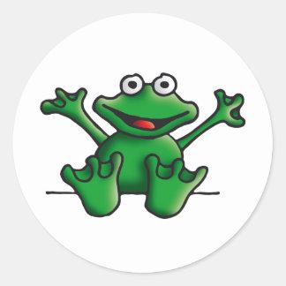 love heart frog classic round sticker