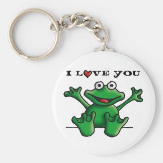 love heart frog key ring