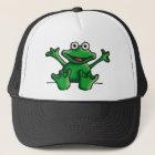 love heart frog trucker hat