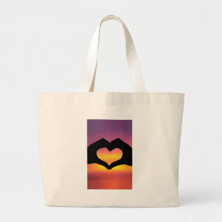 Love Heart Hands Large Tote Bag