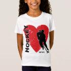 Love Heart Hockey Girls T-Shirt