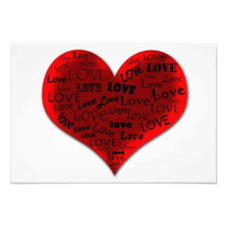 Love Heart in Red Photographic Print