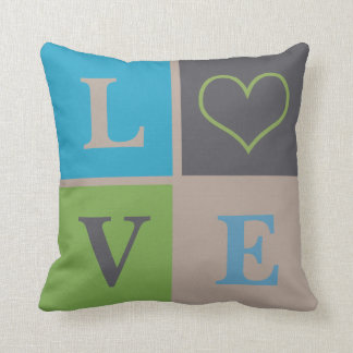 LOVE Heart Infant Nursery Neutral Decor Pillow
