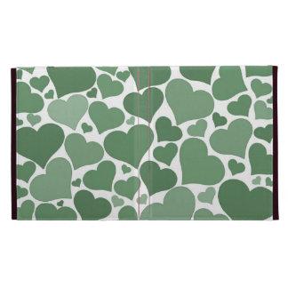 Love heart iPad case - green, pretty Valentine