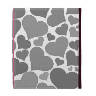 Love heart iPad case - grey, pretty Valentine gift