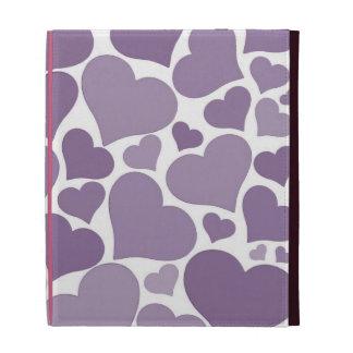 Love heart iPad case - purple, pretty Valentine