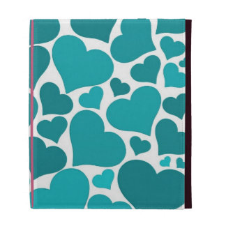 Love heart iPad case - turquoise, pretty Valentine