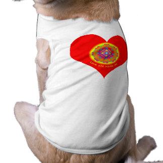 Love Heart Mandala doggie T Shirt