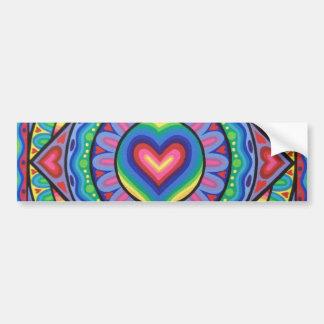 Love heart mandala sticker by Soozie Wray Bumper Sticker